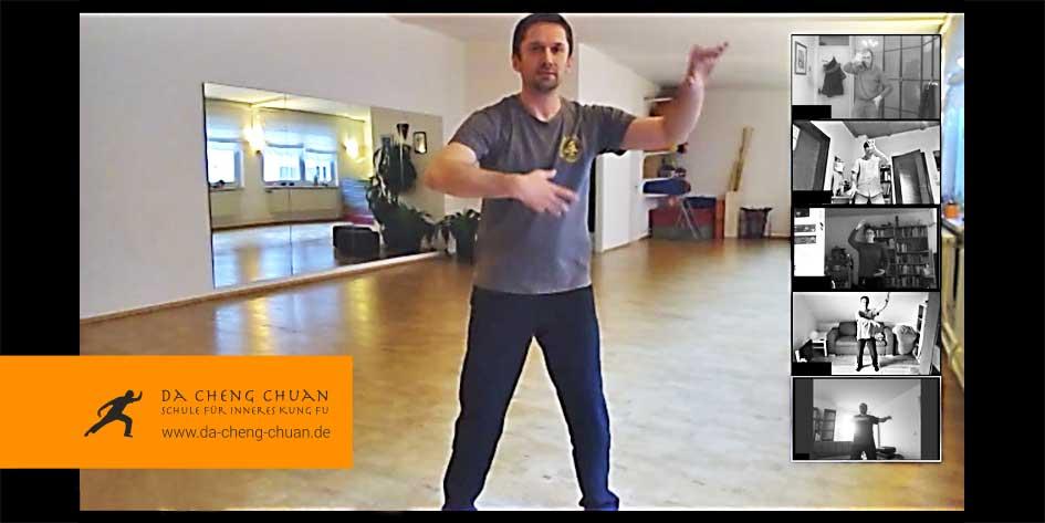 Wolkenhände - Screenshot virtuelles Video-Training über eine Video-Konferenz